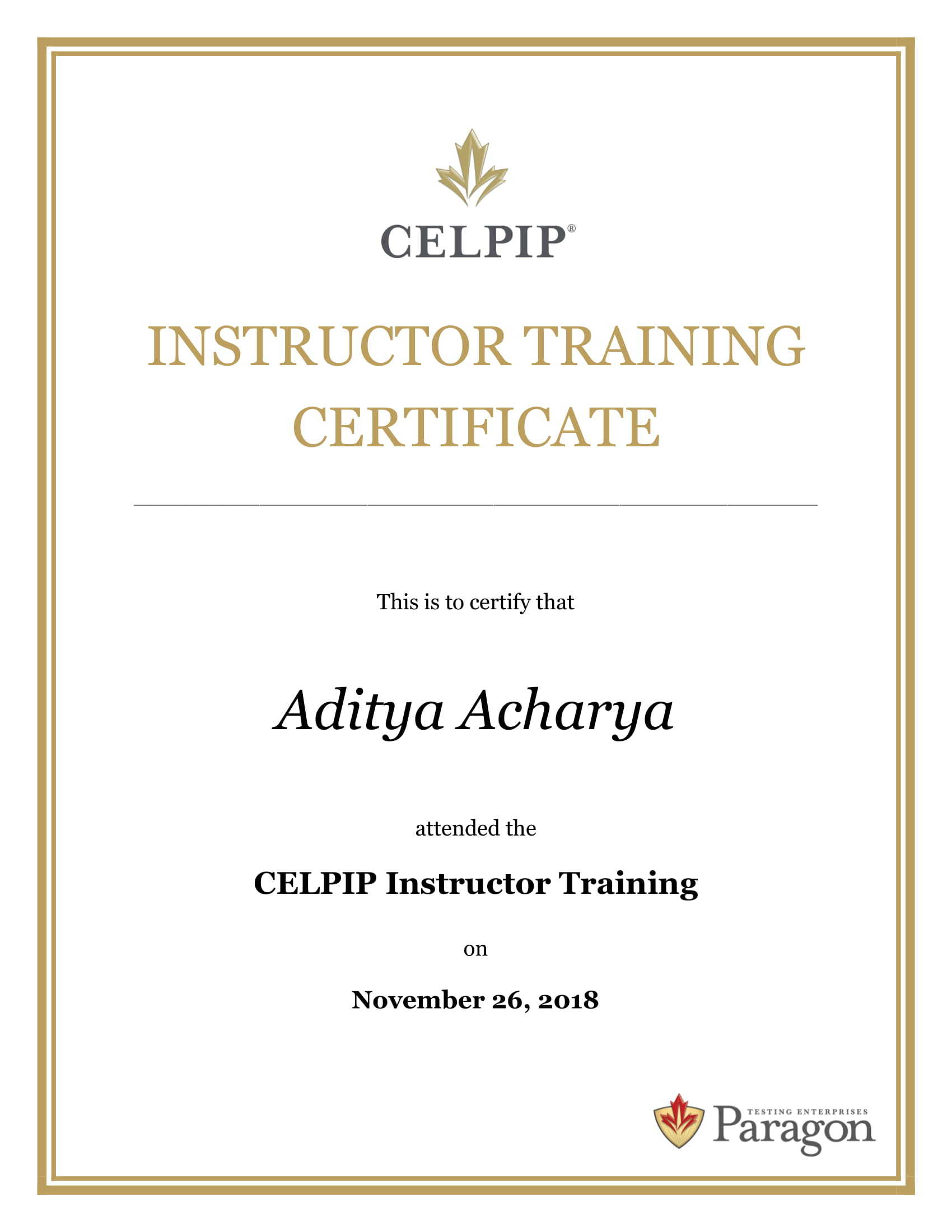 celpip-general Certified Trainer in ABE Academy of British English